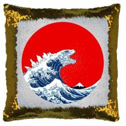 Подушка-хамелеон Godzilla Wave
