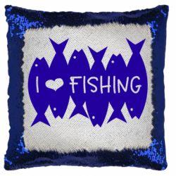 Подушка-хамелеон I Love Fishing
