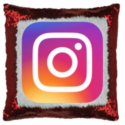 Подушка-хамелеон Instagram Logo Gradient