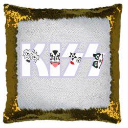 Подушка-хамелеон Kiss the music band