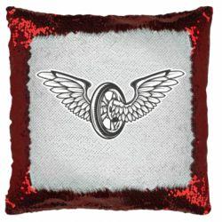 Подушка-хамелеон Колесо та крила