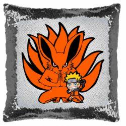 Подушка-хамелеон Kurama And Naruto
