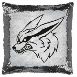 Подушка-хамелеон Kurama line art
