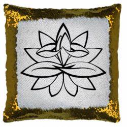 Подушка-хамелеон Lotus yoga