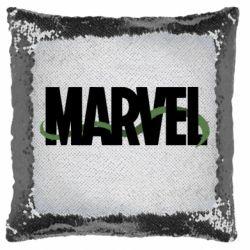 Подушка-хамелеон Marvel logo and vine