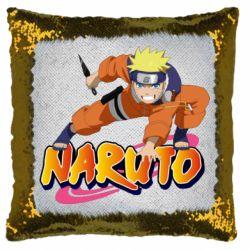 Подушка-хамелеон Naruto with logo