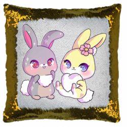 Подушка-хамелеон Rabbits In Love