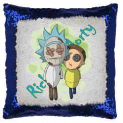 Подушка-хамелеон Rick and Morty voodoo doll