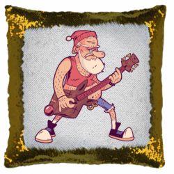 Подушка-хамелеон Rock'n'roll Santa