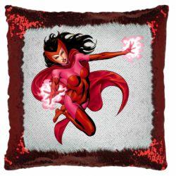 Подушка-хамелеон Scarlet Witch comic art