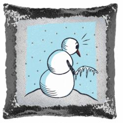 Подушка-хамелеон Snowman. It's Cold!