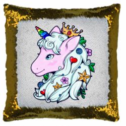 Подушка-хамелеон Unicorn Princess