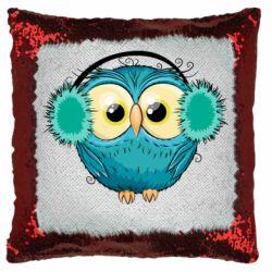 Подушка-хамелеон Winter owl