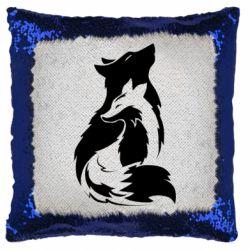 Подушка-хамелеон Wolf And Fox