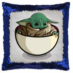 Подушка-хамелеон Йода