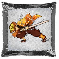 Подушка-хамелеон Zenitsu Demon Slayer