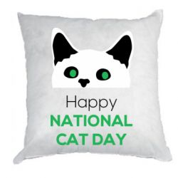 Подушка Happy National Cat Day