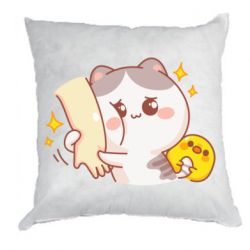 Подушка Кішка тримає руку