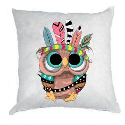 Подушка Little owl with feathers