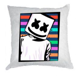 Подушка Marshmello Colorful Portrait