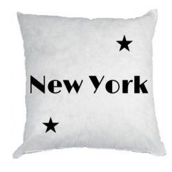 Подушка New York and stars