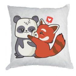 Подушка Panda and fire panda