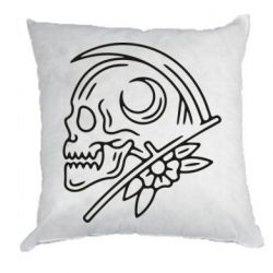 Подушка Skull with scythe