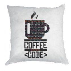 Подушка Сoffee code