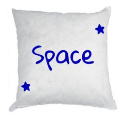 Подушка Space: Letters and Stars Print