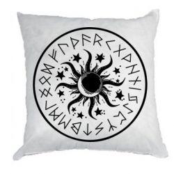 Подушка Sun in runes