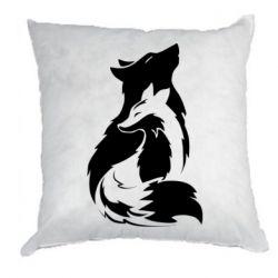 Подушка Wolf And Fox