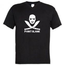 Мужская футболка  с V-образным вырезом Point Blank - FatLine