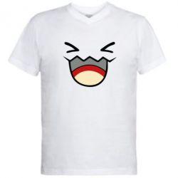 Мужская футболка  с V-образным вырезом Pokemon Smiling