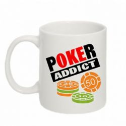 Кружка 320ml Poker Addict