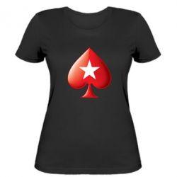 Женская футболка Poker Stars 3D Logo