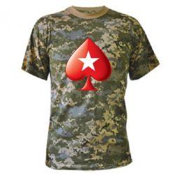 Камуфляжная футболка Poker Stars 3D Logo - FatLine