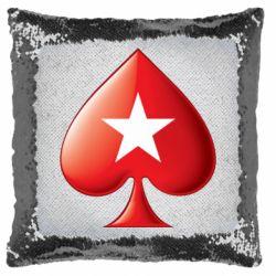 Подушка-хамелеон Poker Stars 3D Logo
