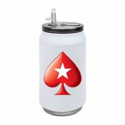 Термобанка 350ml Poker Stars 3D Logo