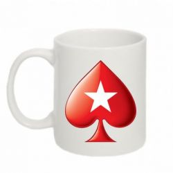 Кружка 320ml Poker Stars 3D Logo - FatLine