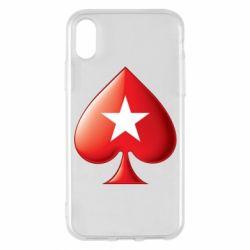 Чохол для iPhone X/Xs Poker Stars 3D Logo