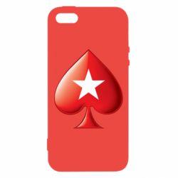 Купить Азартные игры, Чехол для iPhone5/5S/SE Poker Stars 3D Logo, FatLine