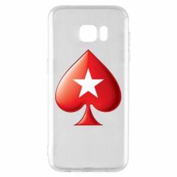 Чохол для Samsung S7 EDGE Poker Stars 3D Logo