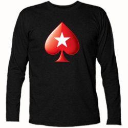 Футболка с длинным рукавом Poker Stars 3D Logo - FatLine