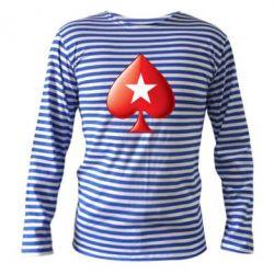 Тельняшка с длинным рукавом Poker Stars 3D Logo - FatLine