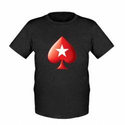 Детская футболка Poker Stars 3D Logo - FatLine