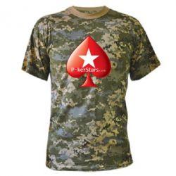 Камуфляжная футболка Poker Stars Game - FatLine