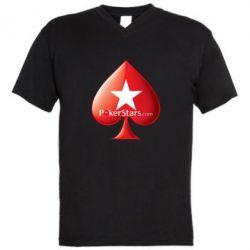 Мужская футболка  с V-образным вырезом Poker Stars Game - FatLine