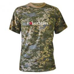 Камуфляжная футболка Покер Старс - FatLine