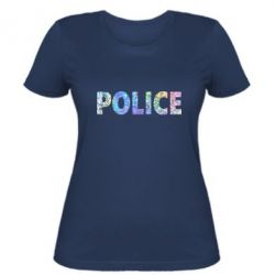 Женская футболка Police голограмма