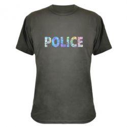 Камуфляжная футболка Police голограмма